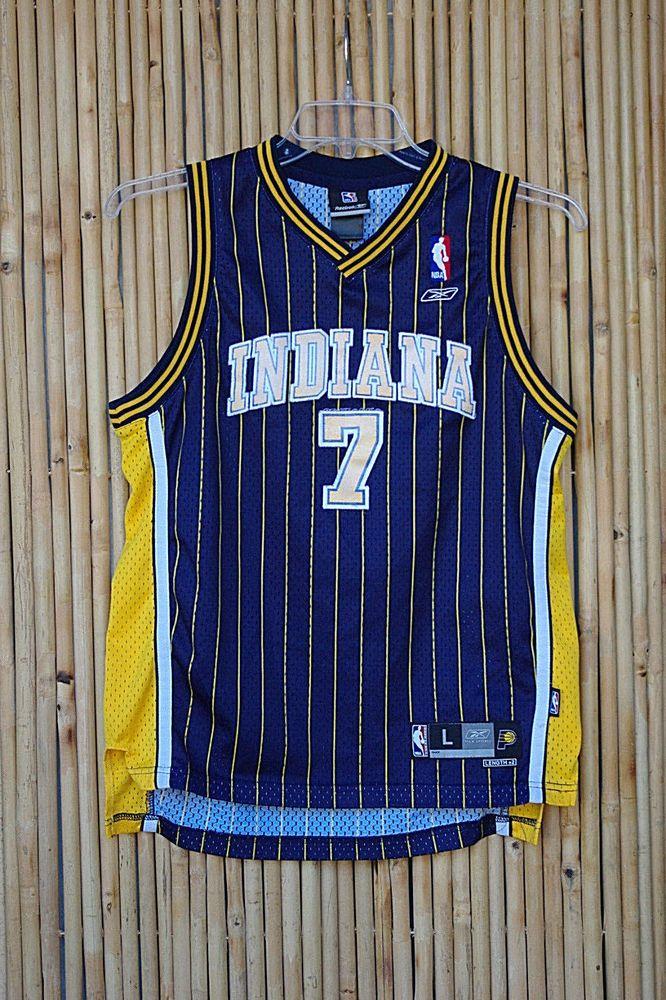 the latest b00e0 8284b NBA Indiana O'Neal #7 Basketball Jersey Youth Large By ...