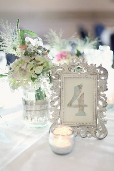 Antique picture frames for table numbers