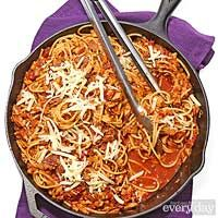 Turkey Ragu Cowboy Spaghetti