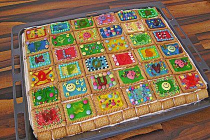 Einfach und großartig - Butterkekskuchen - machen jeden Kindergeburtstag bunter *** Simple Great - Shortbread Cookie Cake Recipe - brightens up every kids birthday party