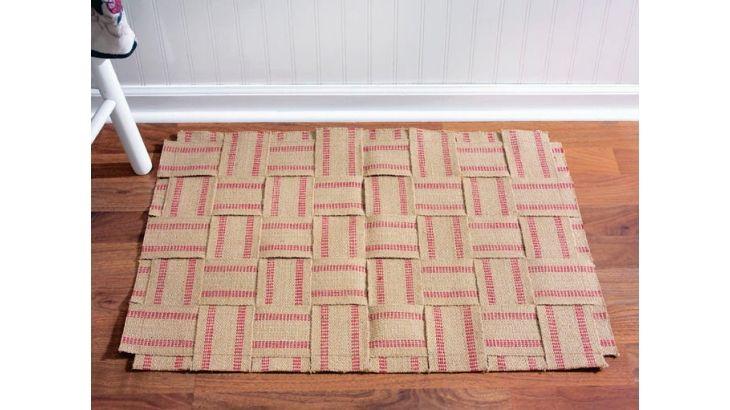 Woven Burlap Rug | Craftideas.com