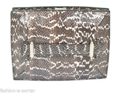 ALEXANDER-McQUEEN-PYTHON-BOOK-CLUTCH-BAG-VERY-RARE-COLLECTABLE