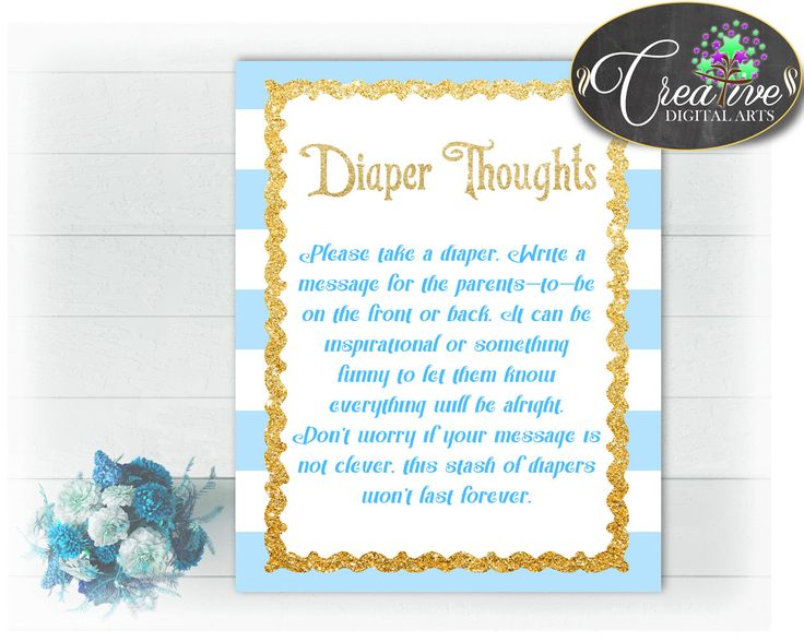 45 best Baby Shower Games Light Blue Stripes, Invitations - baby shower message