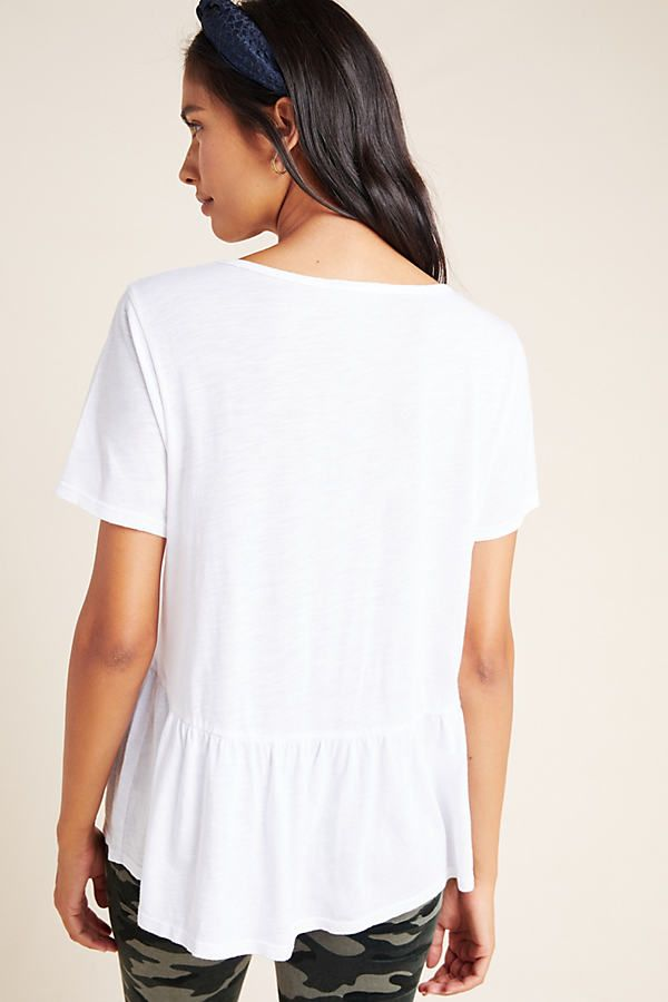 Holden V-Neck Tee by T.La in Black Size: M, Women's Tees at Anthropologie 5