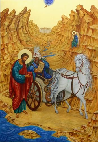 acts 8 Icon by Ann Chapin