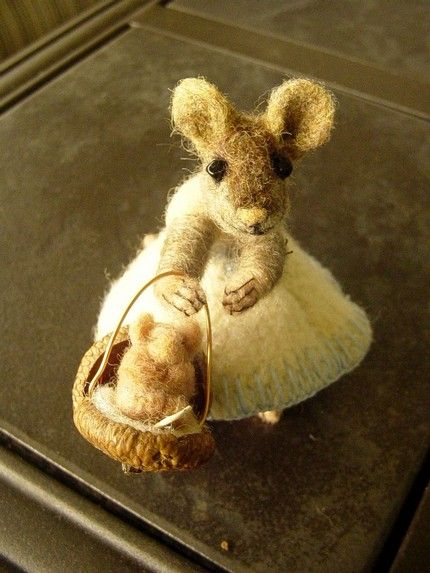 Is there a mouse in the house? Needle felting by Nancy Bevins