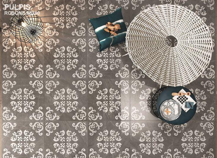 #floor #tiles #vintage #retro #gris #white #House #art #home #design #wall #architect #interior #designer #kitchen #ideas #bath #dimopouloshouse #impronta #italgraniti
