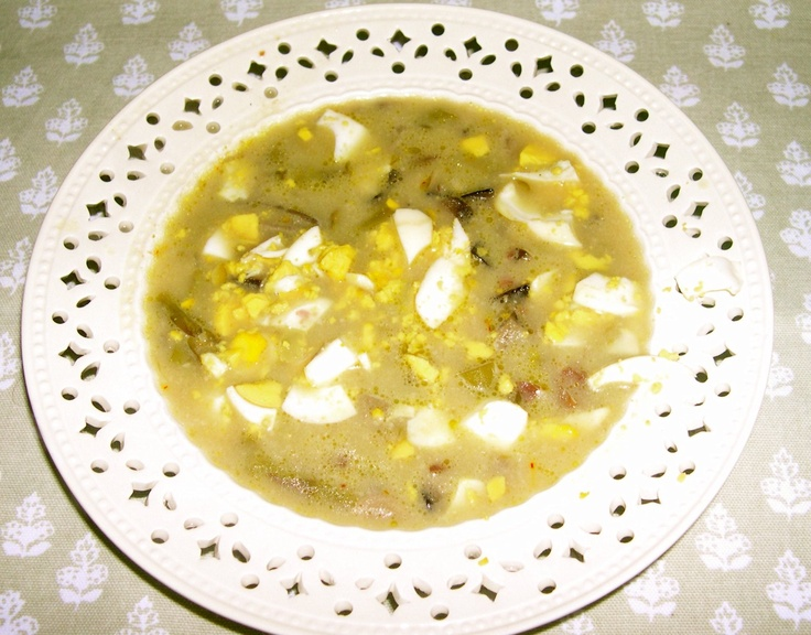 Sopa de espárragos y setas