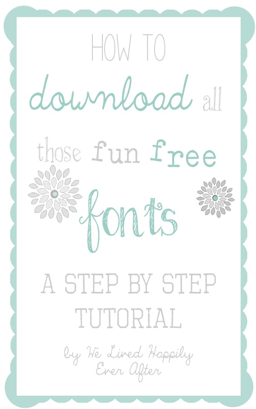 Now I can finally download all those font lists!!! She shows how easy it really is!