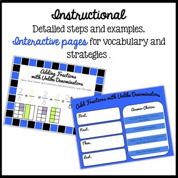 Add Fractions with Unlike Denominators Interactive Math fo