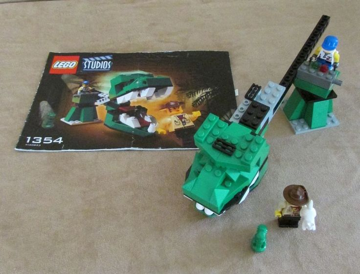 1354 Lego Studios Dino Head Attack complete instructions dinosaur vintage 2001 #LEGO