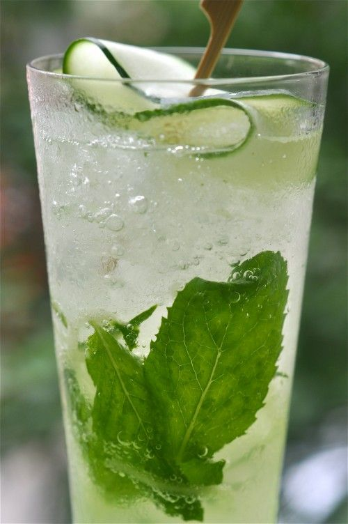 Ginger & Cucumber Sake Cooler #Cocktail