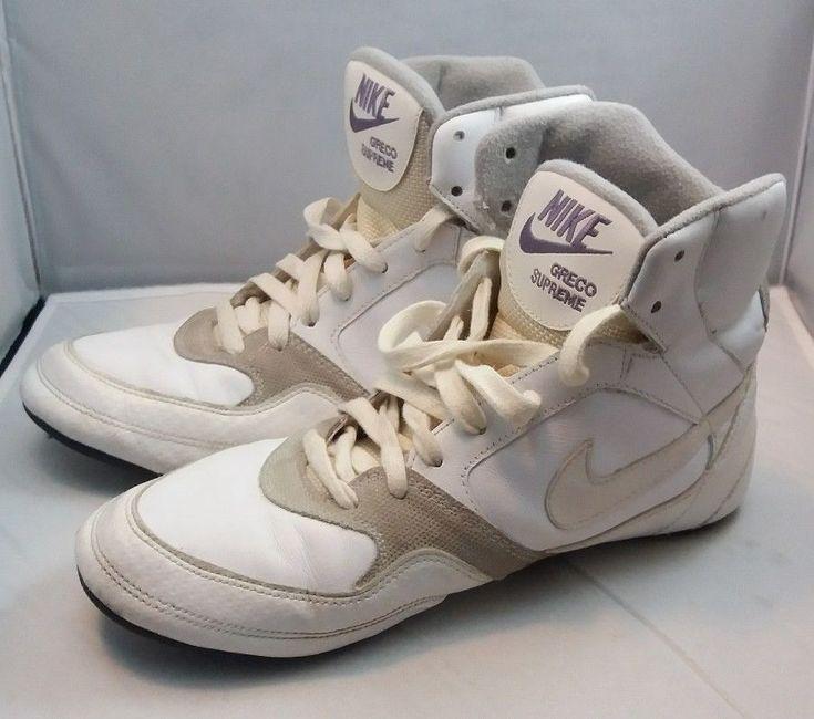 Nike Greco supreme women's wrestling shoes White purple size 10 #Nike