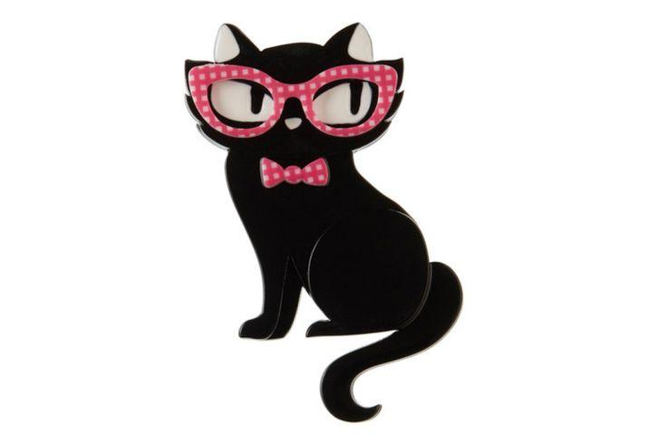 Elissa the Indie Cat Brooch