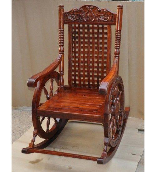 Indyjski drewniany #fotel #bujany Model: sf-13 teraz tylko @ 1,520 zł.  Kup online dzisiaj w @ http://goo.gl/uwK5am