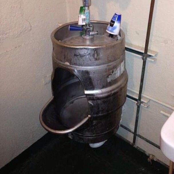 Man Cave Toilet : Keg urinal man cave toilet da pinterest