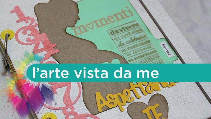 Diario di Gravidanza Fai da te-Mini Album Scrapbooking- Pregnancy Journa...