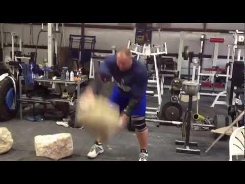 Strongman Stone Training Session - Brian Shaw Natural (not atlas) Stone Training - YouTube