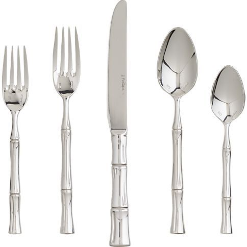 Crate and Barrel bamboo flatware