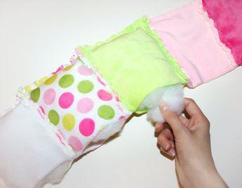 Patchworkdecke nähen: Rag Puff Quilt Nähanleitung - Schritt 6a