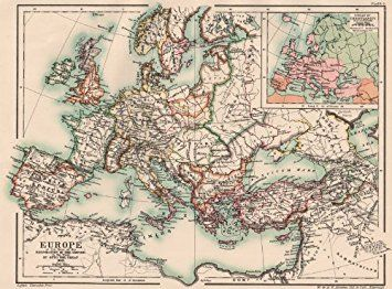 antique map of the holy roman empire