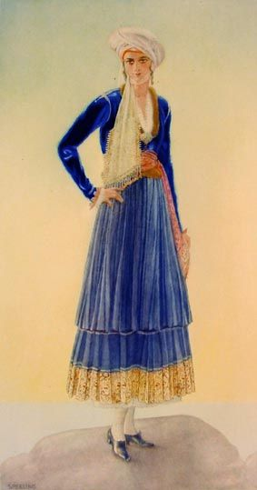 #71 - Woman's Town Costume (Aegean Islands, Psara)