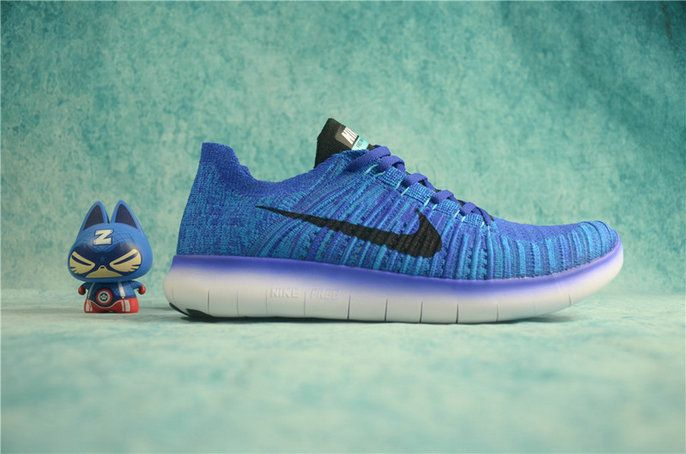 ... 8785a 9468c Factory Authentic 2018 Nike Free RN Flyknit 2016 Game Royal  Hyper Grape 831069 400 ... ca123ed15