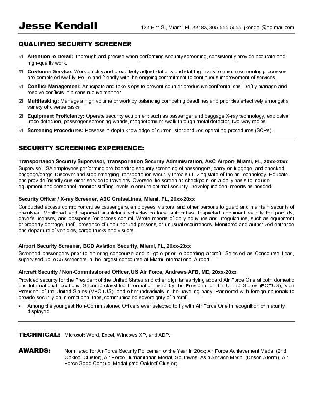 Security Guard Resumes Unforgettable Security Guard Resume Examples To  Stand Out, Security Guard Resume Sample Resume Genius, Security Officer  Resume ...  Security Officer Resumes