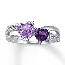 engagement amethyst rings