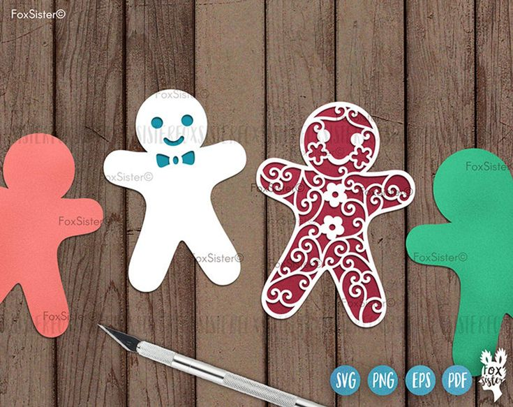 6 Gingerbread Men Svg Bundle, Gingerbread Man Svg Files