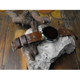 Leather watch band for smartwatch Moto 360