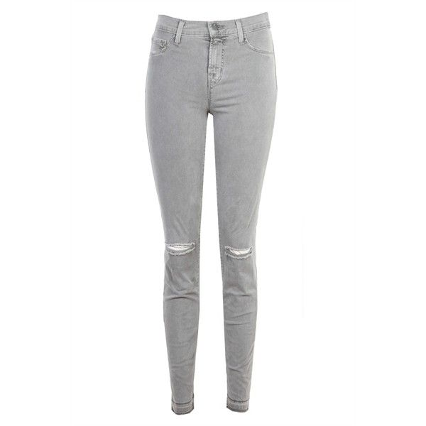 J Brand 811 Mid Rise Skinny Jean Fox ($145) ❤ liked on Polyvore featuring jeans, pants, bottoms, calças, white skinny leg jeans, fox jeans, skinny jeans, light weight jeans ve white jeans