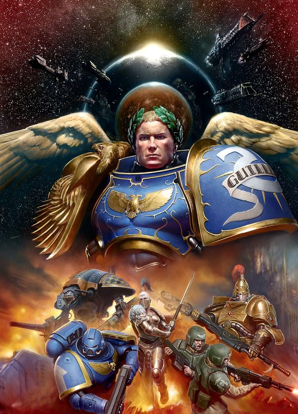 Выглядит как обложка нового блокбастера. Warhammer 40k, warhammer, Roboute Guilliman, ultramarines, Rise of the Primarch, Wh art