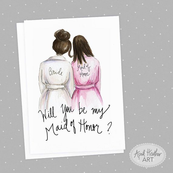 Maid of Honor PDF Download dark brunette bride by aprilheatherart