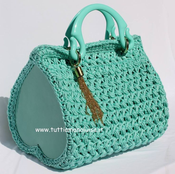 How To Crochet A Bag : crochet prestados diy crochet bags crochet ideas crocheted bags ...