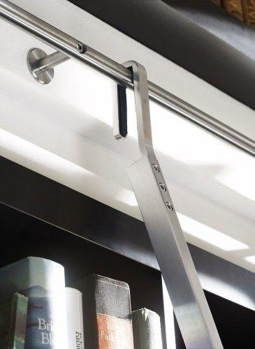 Hardware and Ladder frames for the library or shelves! [ Barndoorhardware.com ] #ladders #hardware #slidingdoor
