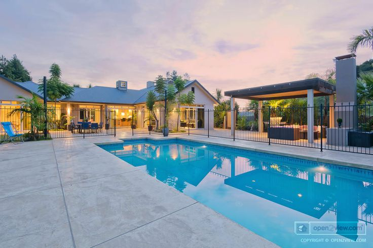 pools look great by day, and stunning by twilight!