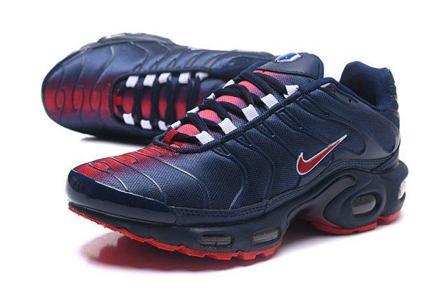 Nike Air Max Plus TN Navy Blue Red Mens Running Shoes | Tenis