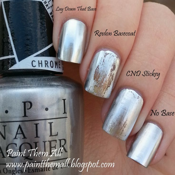Paint Them All: OPI Push and Shove over different base coats