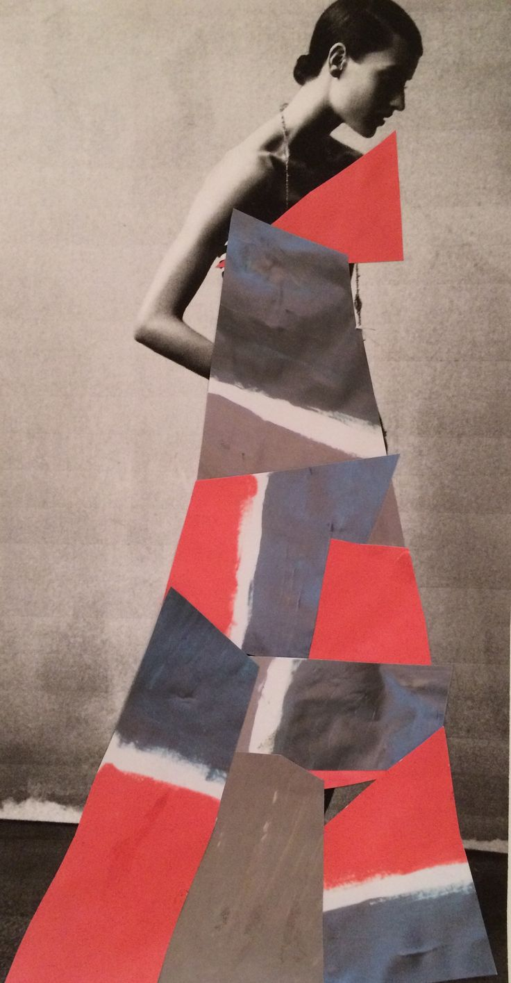 Evening dress design based on colour combination from Ben Nicholson still life