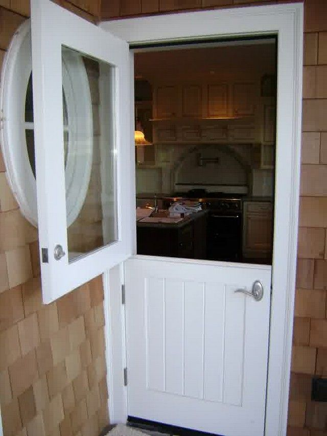 Exterior Dutch Door With Screen