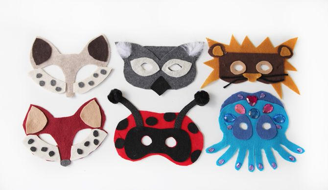 DIY No-Sew Animal Masks (Free Template) from Prudent Baby