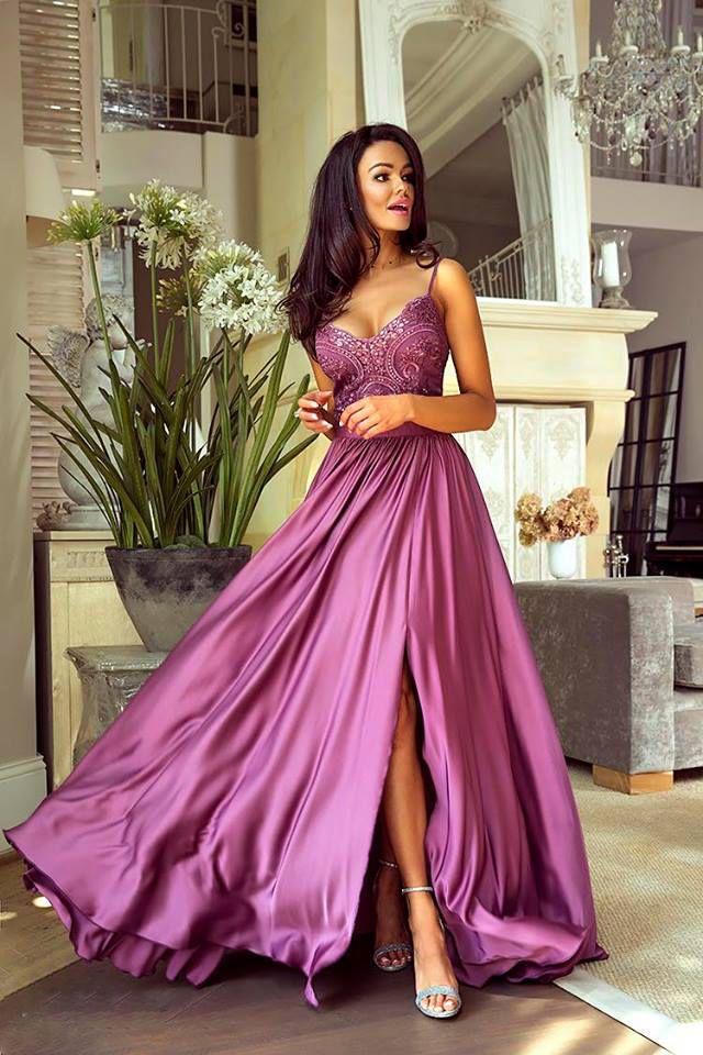 8afe41388b5ed7 Sukienka Długa z Koronką Silvia Śliwka   Sukienka, Sukienki, Dresses ...