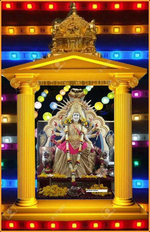 Navaratri durga stage decoration