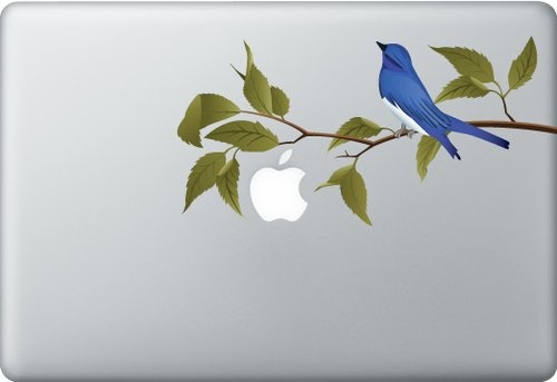 Shoply.com -Blue bird macbook sticker. Only $9.90