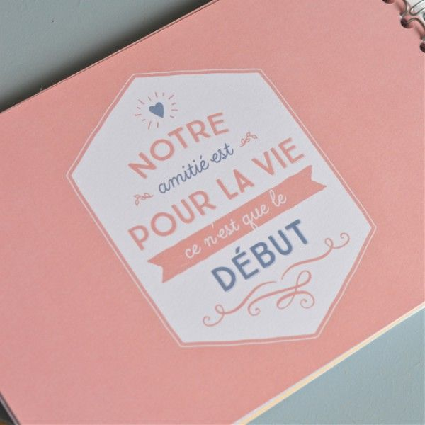 foto de Album ensemble Mr Wonderful deco graphic com Idee cadeau meilleure amie Diy carte