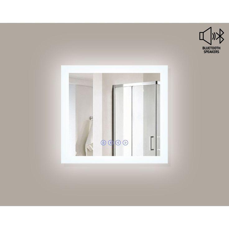 MTD Vanities Encore BLU103 LED Illuminated Bathroom Mirror with Built-In Bluetooth Speaker