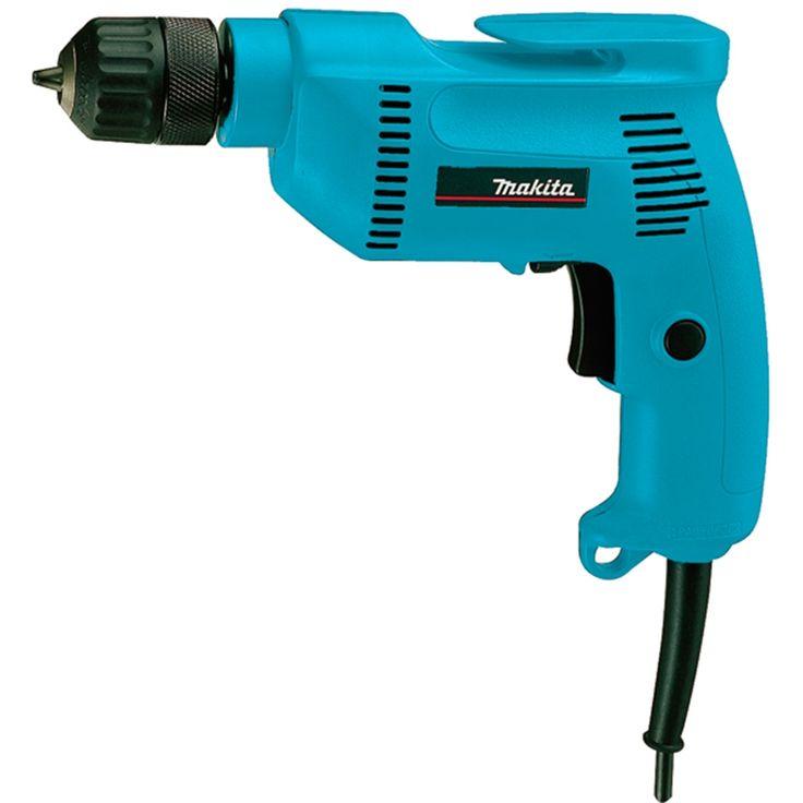 Makita 6408 taladro 530 W, portabrocas automático 10 mm 0 - 2500 rpm