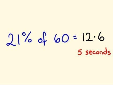 Percentage Math Trick 2 - Solve percentages mentally - percentages made easy! - YouTube