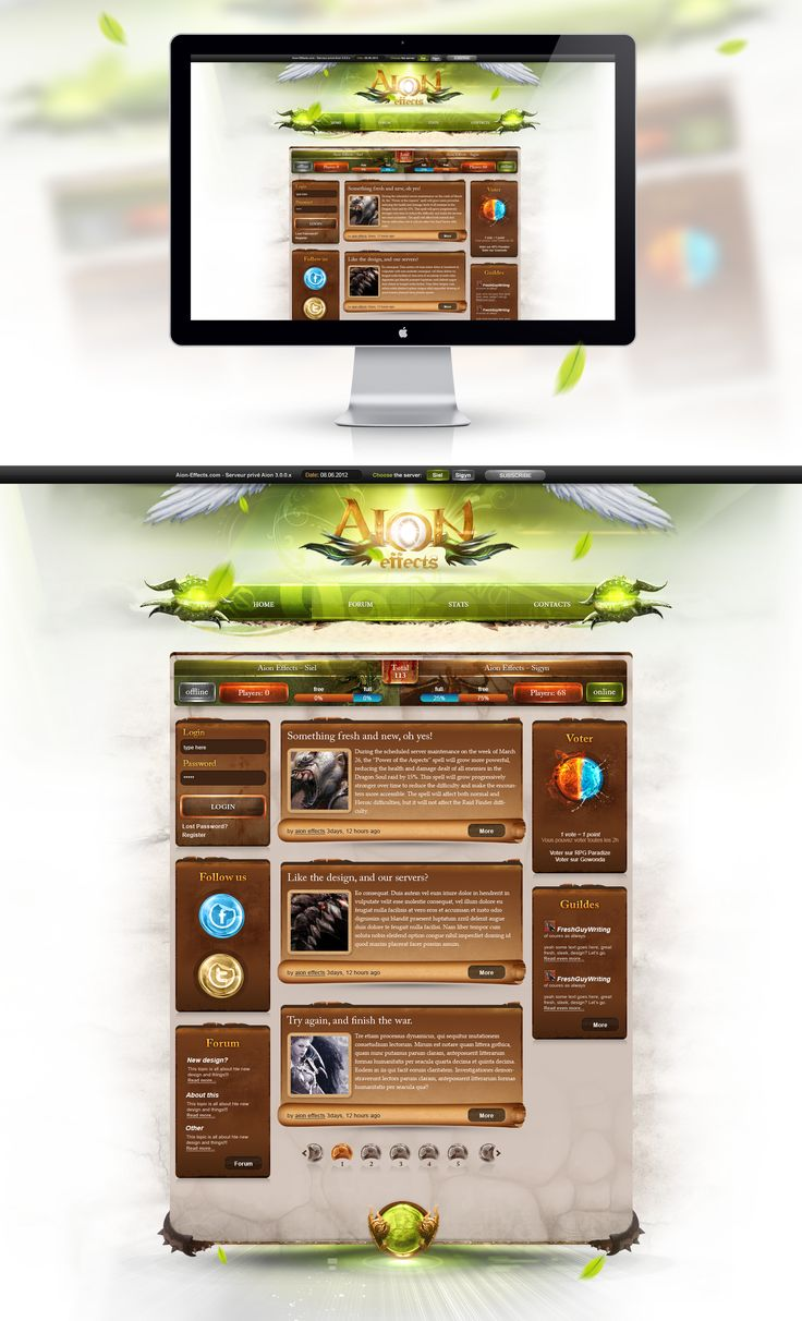 AION effects green  by *Mo4itajs  #webdesign